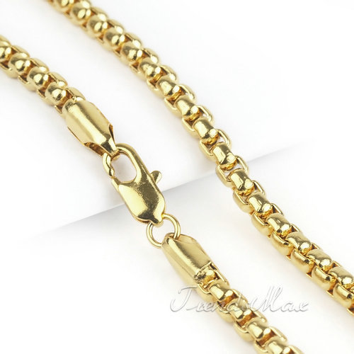 Wholesale Fashion 2mm MENS Womens Necklace Box Link Chain 18K Gold Filled Necklace 18KGF Wholesale Jewelry Gift GN67