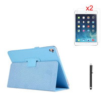 Litchi Holder Magnet Smart Sleep Case Stand Flip PU Leather Cover +2* Clear Film+ Stylus For Apple iPad Pro Air3 9.7 inch Tablet(China (Mainland))
