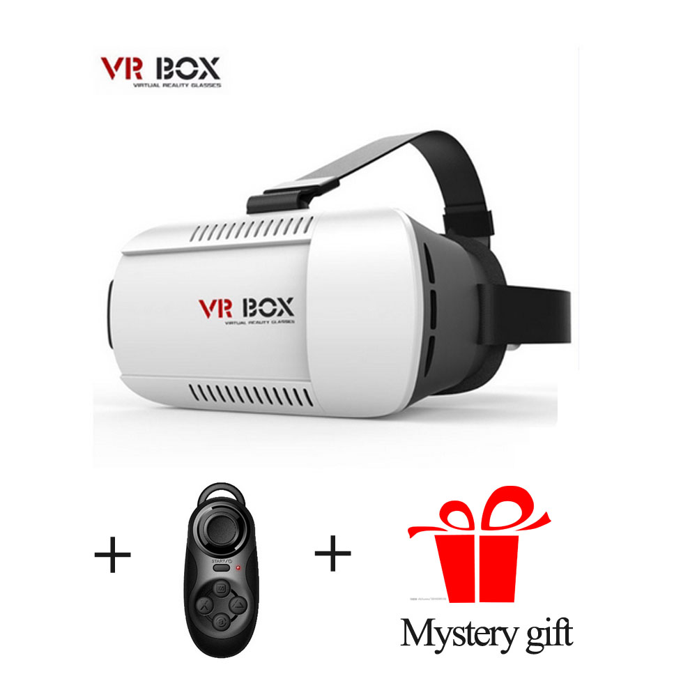 Google cardboard VR BOX II 2.0 Version VR Virtual Reality 3D Glasses watch movies games + Bluetooth Controller+Mystery gift(China (Mainland))