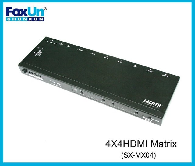 4-in-4out  HDMI  3D Matrix Switch with IR Control