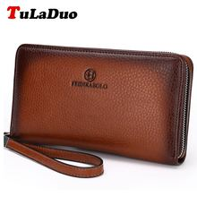 Famous Brand Monederos Carteras Mujer Luxury Male Genuine Cowhide Leather Top Purse Men's Clutch Wallets Handy Bags Man Wallets