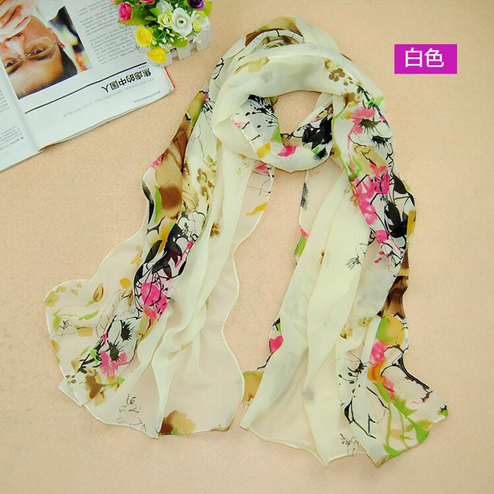2016 Fashion women's flower print scarf Chinese style scarves Wonderful Elegant Oriental female shawl scarf New Chiffon scarves(China (Mainland))