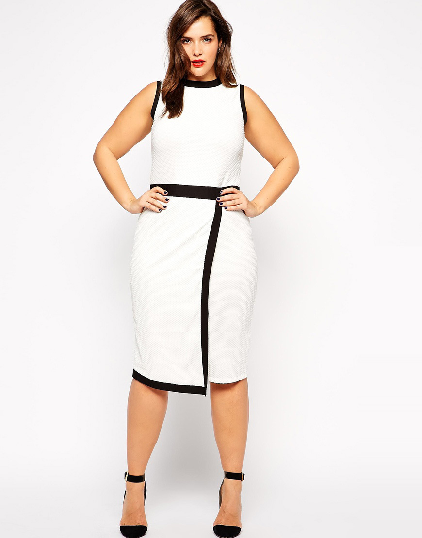 White summer dresses for plus size « Clothing for large ladies