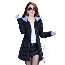 2016 Wadded Jacket Female New Women's Winter Jacket Down Cotton Jacket Slim Parkas Ladies Coat Plus Size S-XXXL TP0514(China (Mainland))