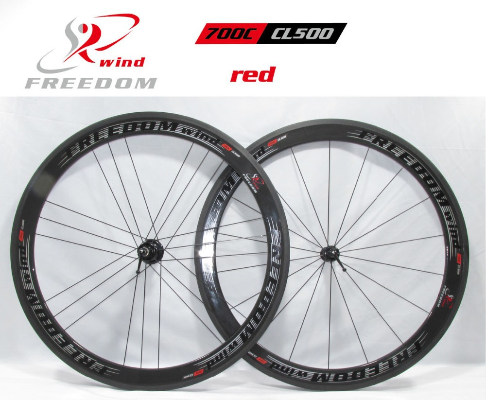 freedom wind 1K weave 700C/CL500 Road bicycle Carbon wheels  50mm tubular  with powerway R36 hubs G3 1420 spokes  free shipping(China (Mainland))