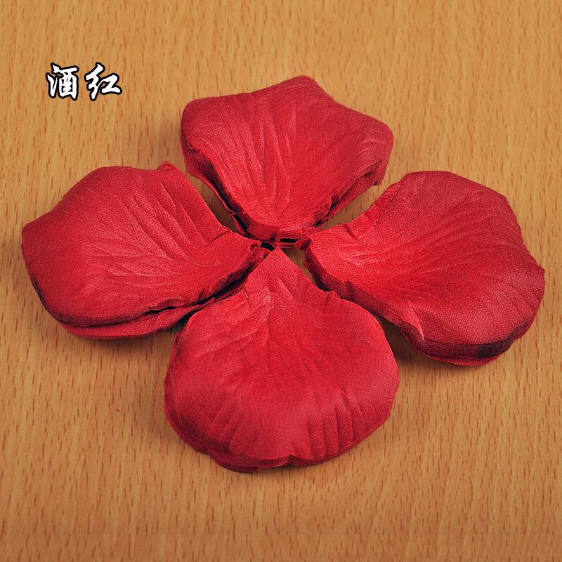 100pcs Wine Red Artificial Rose Flower Petals Non-woven Petalos Wedding Party Crafts Festival Decoration Mariage Supplies Decor(China (Mainland))