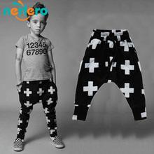 Boys Pants Nununu Cross Star Children Harem Pants For Girls Boy 2016 New Fashion Toddler Child Trousers Baby Clothes(China (Mainland))