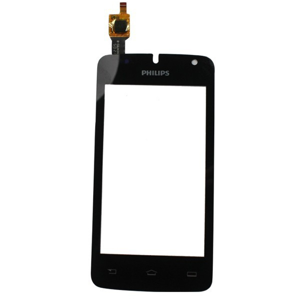 Front Outer Lens Glass Capacitive Touch Screen For Philips Xenium W536 black sensor Replacement Assemble