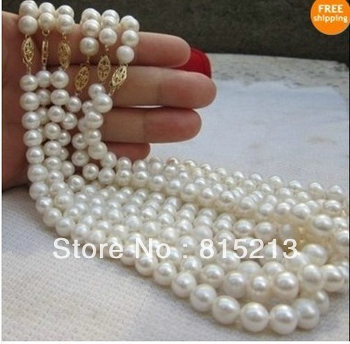 ddh0076 wholesale price 6PC AAA+ south sea 8-9mm white pearl necklace 18 14k Gold 28% Discount (A0329)<br><br>Aliexpress