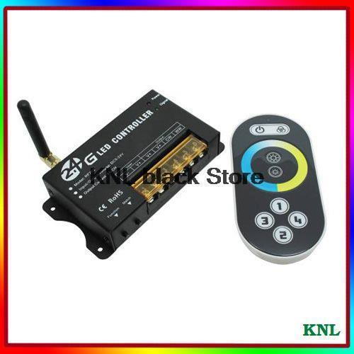 2.4G DC12-24V led color temperature adjusting controller with RF touch remote for led strip lights, 2channel*8A, free shipping