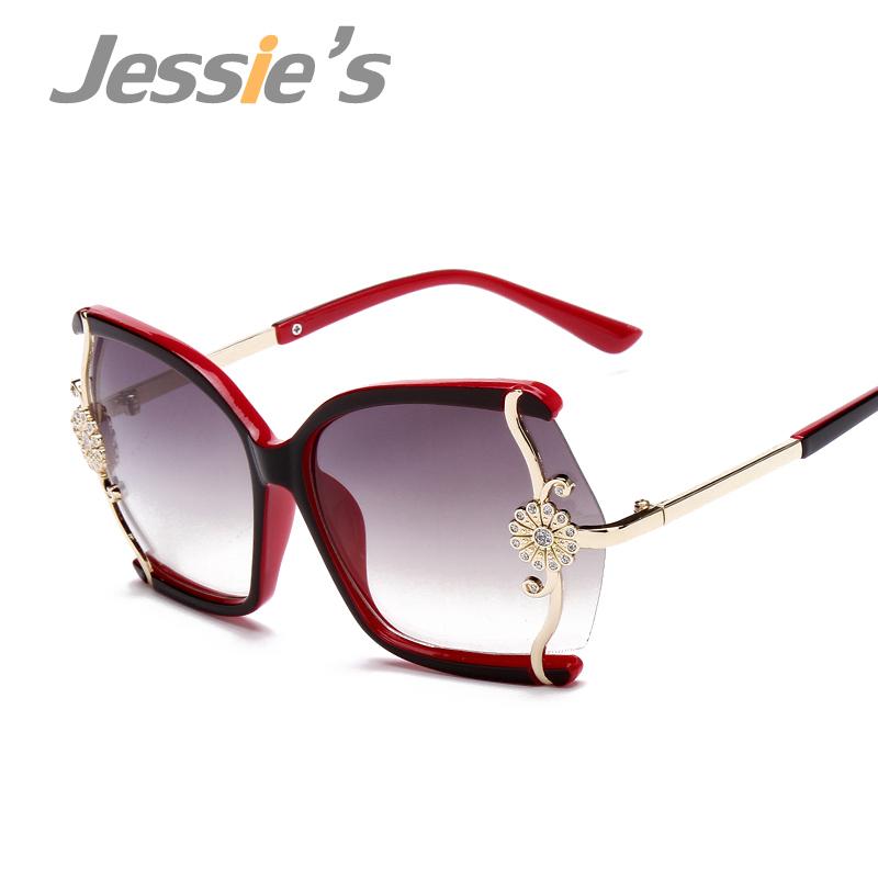 Designer Glasses Half Frame : Aliexpress.com : Buy Metal Flowers Women Sunglasses ...
