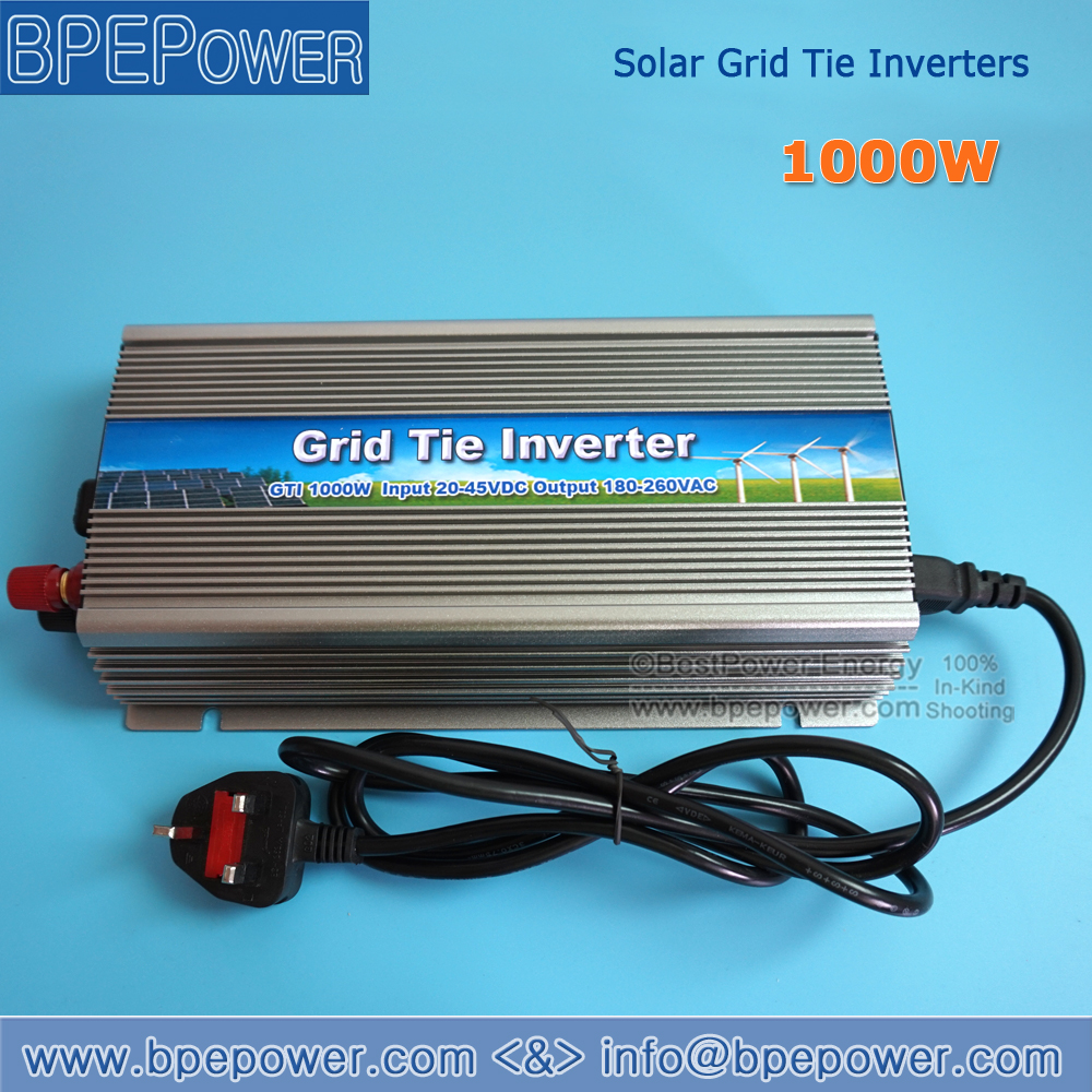 FREE Shipping 1000W 24V Grid tie micro inverter, Pure Sine Wave Inverter DC20V~45V to AC180V-260V for 1200W 24V Solar panel(China (Mainland))