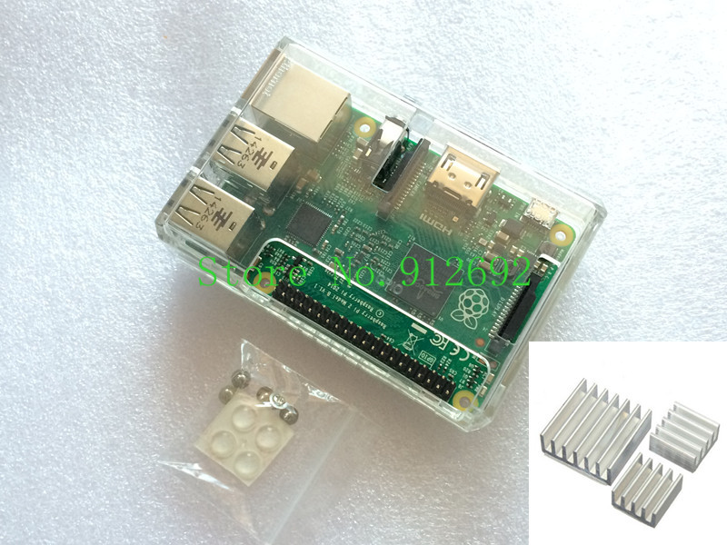 Электронные компоненты Raspberry ABS Pi B gPio & Pi 2 + 3 Raspberry Pi case купить