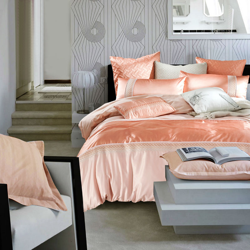 online buy wholesale orange bedding sets from china orange bedding sets wholesalers. Black Bedroom Furniture Sets. Home Design Ideas