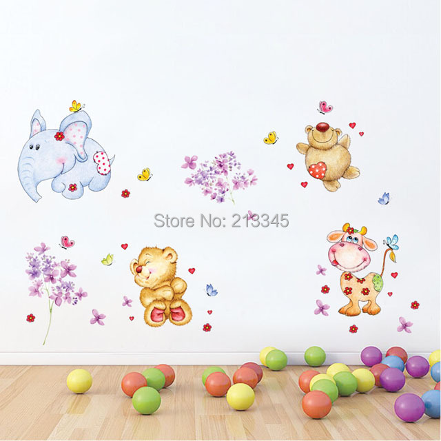Saturday monopoly animal decals diy wall sticker for Stickers infantiles