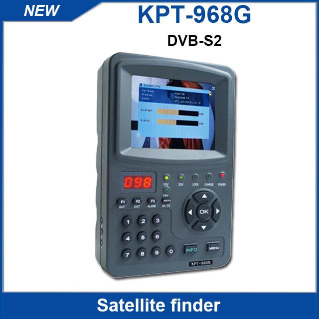 Good digital Satellite finder signal meter 3.5inch KPT-968G TFT DVB-S2 Handheld ABS-S CBS-S MPEFG-4 HD Signal sat finder Cheap(China (Mainland))