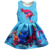 Buy 2017 Summer Girl Dresses Trolls Girls Princess Birthday Party Dress Children Trolls Costume Kids Clothes Vestido Trolls Dress for $9.37 in AliExpress store