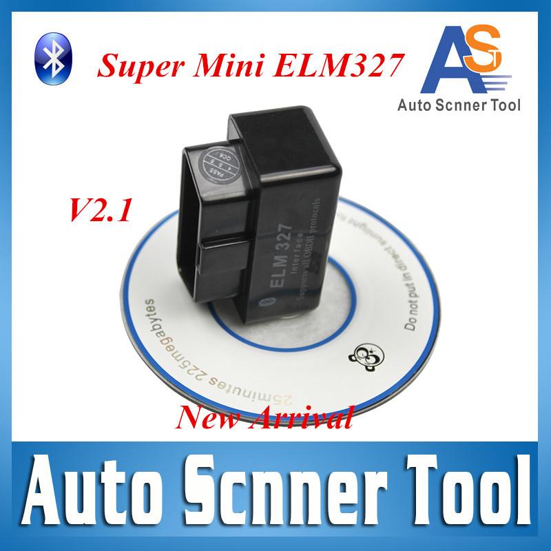 Scan V2.1 Super mini ELM 327 Bluetooth odb2 Scanner Code reader ELM327 Bluetooth Smart Car Diagnostic interface ELM327 CNP Free(China (Mainland))