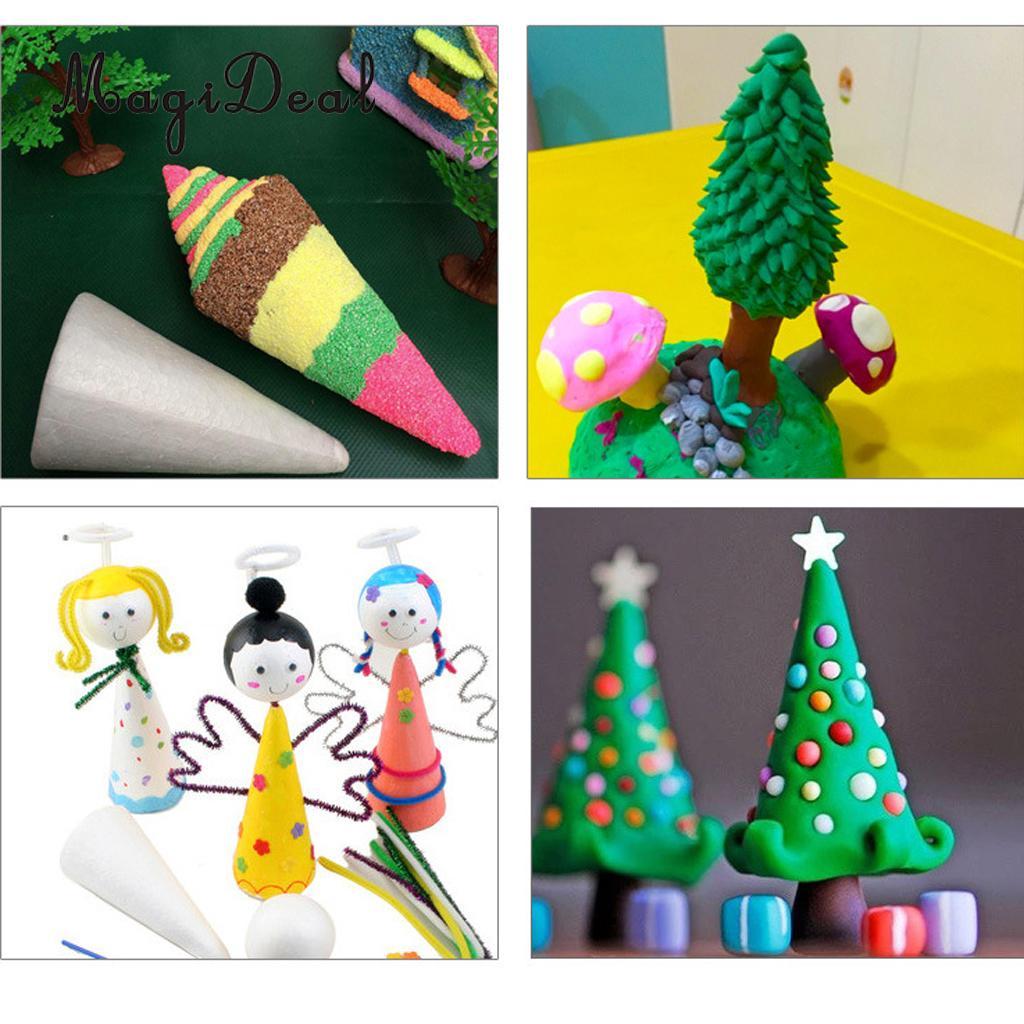20x Blank DIY Christmas Tree Cone Shape Polystyrene Styrofoam Foam for Modeling Craft DIY Painting Drawing 70/100/150mm