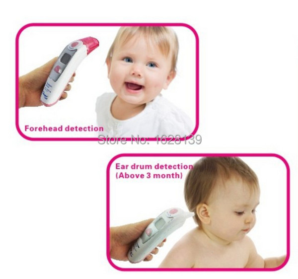 Muti-fuction 4 in 1 Baby Digital Termometer Adult Children Digital Body Forehead Ear baby Infrared Thermometer, Baby termometro(China (Mainland))