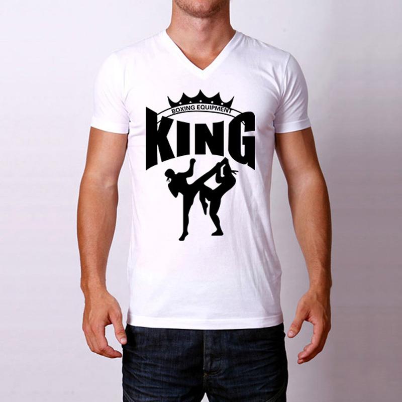 New Summer Men Tshirts Muay Thai King Boxing Gym Printed T Shirt Mens Fitness Clothing Camisetas Casual Tee Shirts Cheap Tops(China (Mainland))