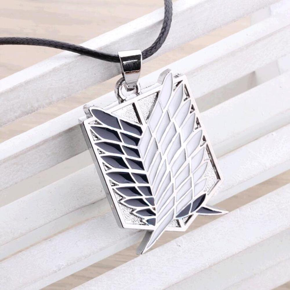 Metal Anime attack on the wings of freedom titanium necklace Shingeki no Kyojin cosplay necklace shell necklace necklace survey(China (Mainland))