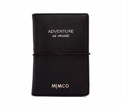 Mimčo классико паспорт черный РозовыйЗолото