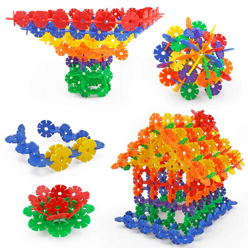 150pcs Children Kid Baby Toys Multicolor Building Blocks Snowflake Creative Educational Construction Plastics Toys(China (Mainland))