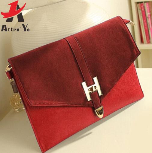 Attra-Yo! women messenger bags for women handbag clutch shoulder bag ladies Envelop clutch purse free shipping LS1032(China (Mainland))