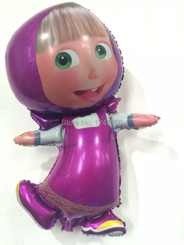 Masha and bear party Foil Balloons Cartoon balls character birthday Party decorations kids party Supplies 1pc New larger size(China (Mainland))