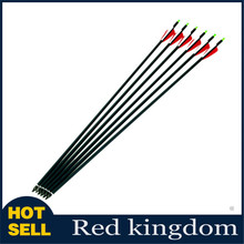6pcs/lot Replaceable arrowhead 30inch Length Carbon Arrow, 500 spine,Hunting Or practice archery for compound/recurve bow