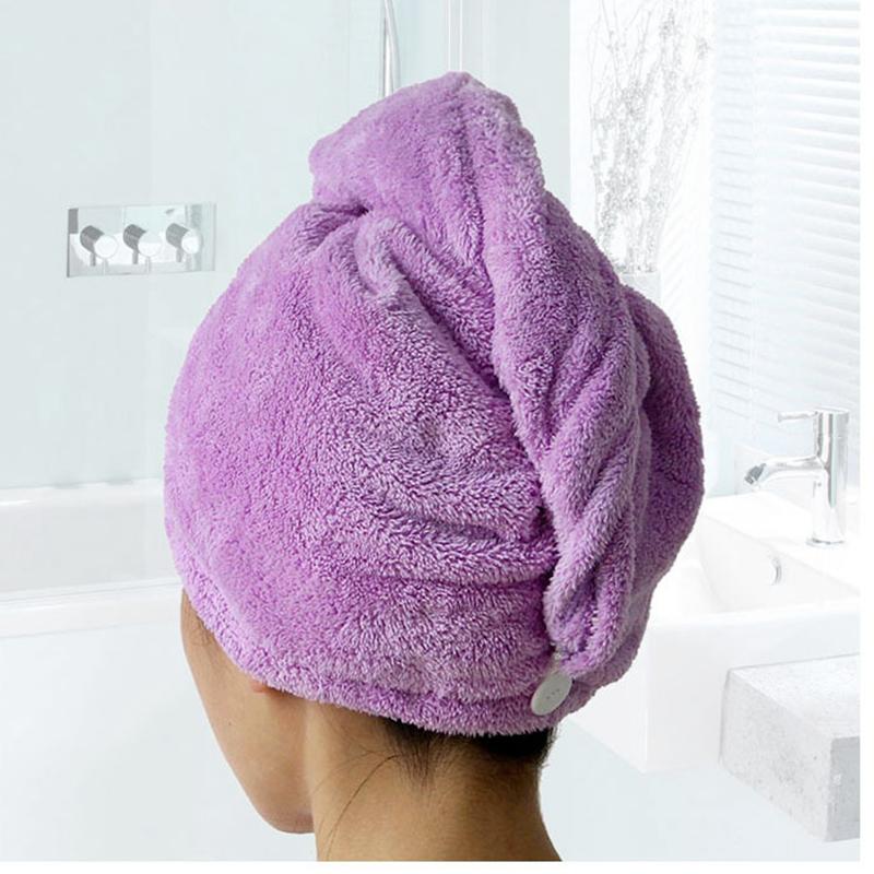 Microfiber Hair Towel Ultra Absorbent Twist Hair Turban Drying Cap For Spa(China (Mainland))
