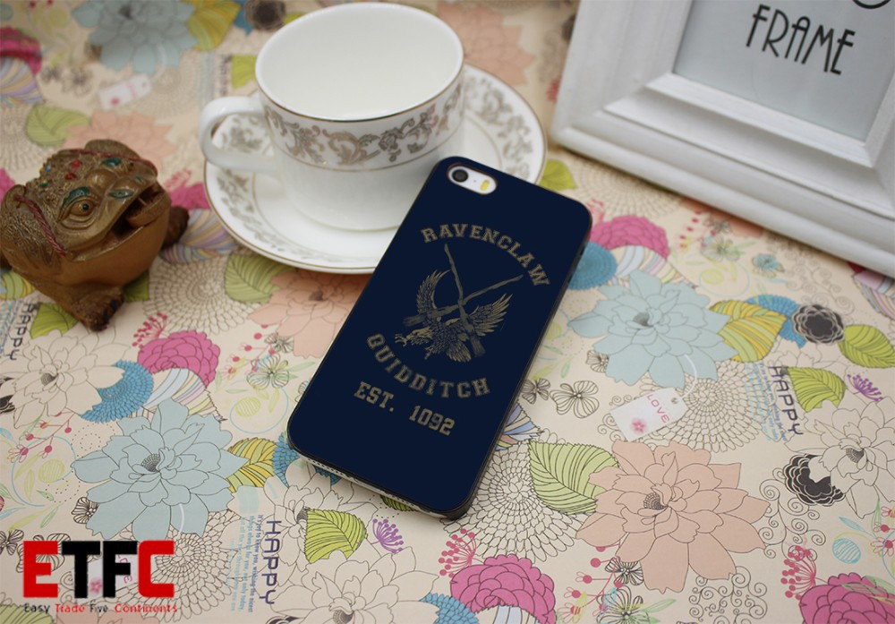 ETFC141 Harry potter Ravenclaw quidditch team New Fashion Design Hard Black Skin for iPhone 5 5s 5g Case Cover
