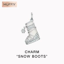 Botas de nieve de Moda Encanto, TS Estilo Charm Club de Moda Para La Mujer, Ts Regalo de Invierno de Zapatos En 925 de Plata Cupieron la Pulsera(China (Mainland))