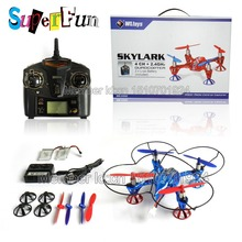 WLtoys latest upgraded version V252 # 2.4G 6 Axis 3D RC UFO Helicopter Quadcopter(RTF) – 4 colors randomly send. Free Shipping.