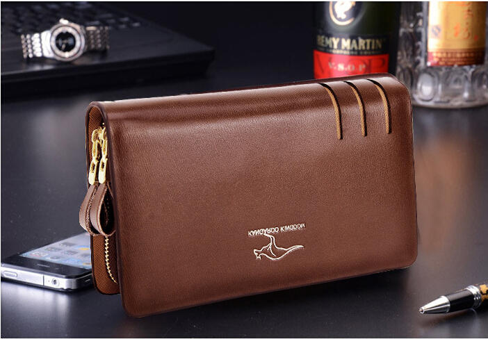 QB 13 new 2014 Fashion Casual Business brand genuine leather wallet men clutch Wallet men s