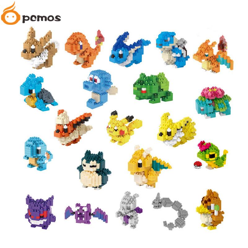 PCMOS 2016 New font b Pokemon b font Block Diamond Mini Building Blocks Pocket Monster
