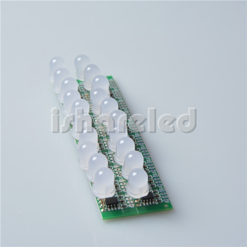 50pcs T1515 WS2811 IC led digital pixel modules ,full color,8mm diffused RGB LEDs,ip20,input DC 12V(China (Mainland))