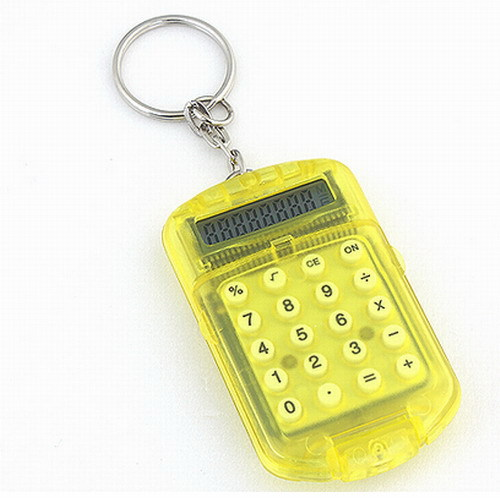 Free Shipping 1 Piece Mini Keychain Calculator Key Chain Small Gift Toy(China (Mainland))