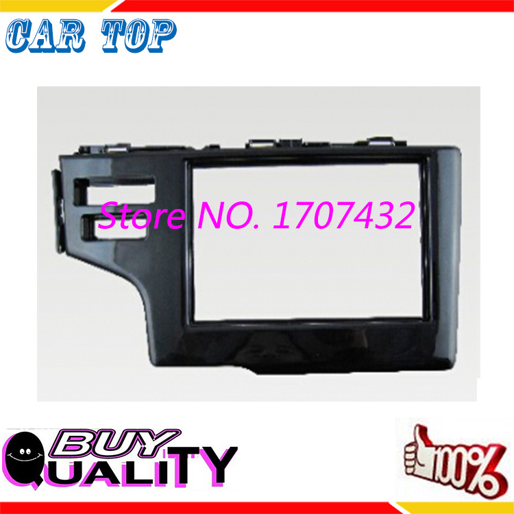 High qulity 2DIN Fascia HONDA Fit, Jazz 2013-2015 LHD SRS hole stereo facia frame panel dash mount kit adapter trim
