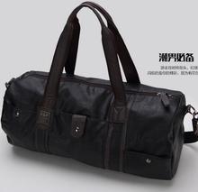 high quality brand men leather travel bag men's vintage duffel bag large capacity gym bag shoulder strap outdoor sport tote 696t(China (Mainland))