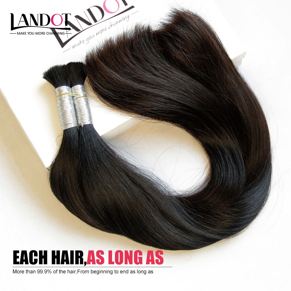 The best hair bulk clean natural raw unprocessed virgin hair double drawn remy bulk for braiding hair 1pcs can bleach any color