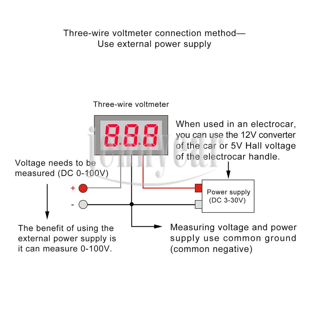 Wholesale 028 Red Led Dc 0100v Digital Voltmeter Mini Voltage Automotive Wiring Diagram 090551 J16 J17
