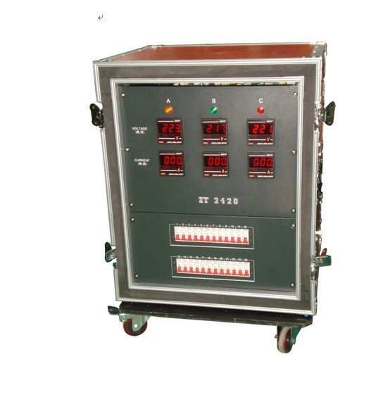 24CH waterproof stage power supply mobile cabinet/power supplier box/stage DC cabinet /LED light/DJ light/DMX cootroller
