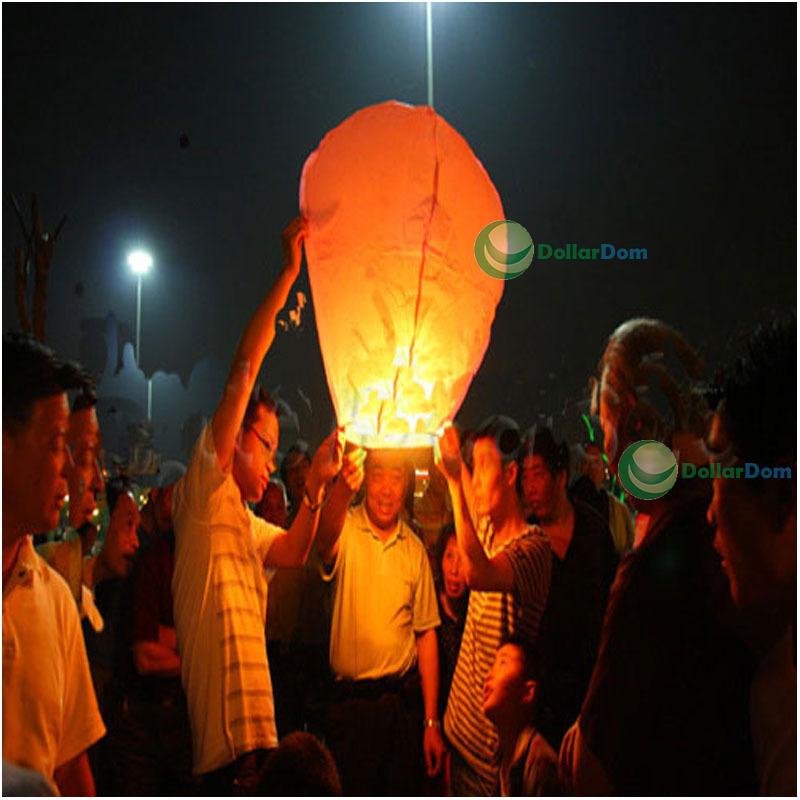 ChicQueen 20PCS Hot Sky UFO Balloon Kongming Fire Lantern Fly Wishing Lamp Anniversary(China (Mainland))