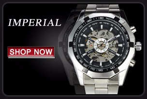 Luminous Men Automatic Skeleton Military Watch