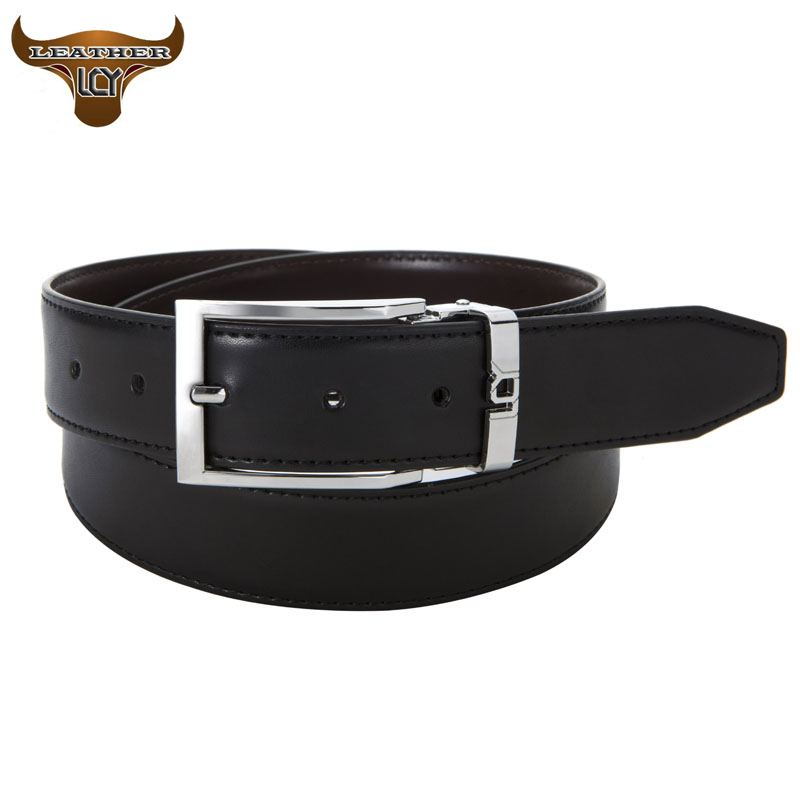 [LCY] Mens Belts Luxury 100% Real Leather Belt for Men Top Quality Double Face Leather Belts for Male ceinture homme 350273(China (Mainland))