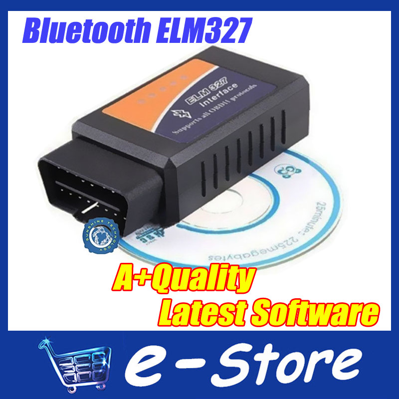 5 pcs Hottest Works On Android Torque Elm327 Bluetooth ELM 327 V2.1 Interface OBD2 / OBD II Auto Car Diagnostic Scanner(China (Mainland))