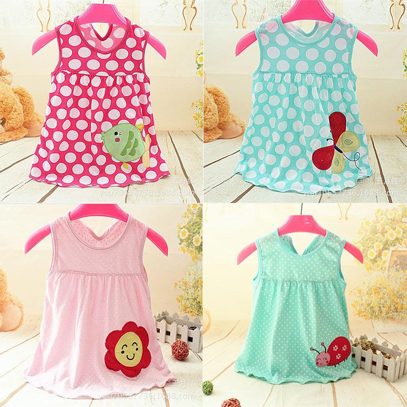 Monkids Summer Cute Baby Girl Dress Cotton Polka Dot Striped Slip Dress Butterfuly Bow Children Kids Clothing Princess Dress<br><br>Aliexpress