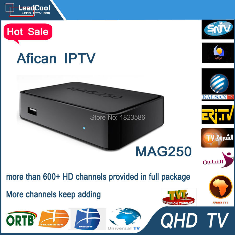 Mag 250 Linux Iptv Set Top Box Iptv Account with nearly 700 european channels(China (Mainland))